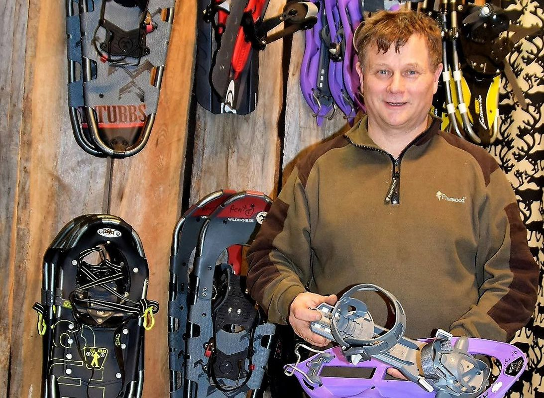 """We also offer equipment for rent. All types of skis, snowshoes, sleds, kicksleds and ice fishing gear are available for excursions, says Kari Lukkarinen."